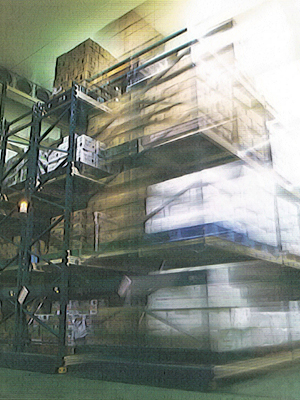 移動式ラック式冷凍庫